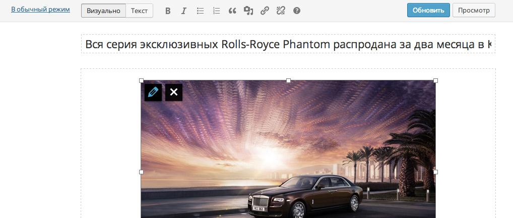 Кнопка просмотра поста в полноэкранном режиме редактора в WordPress