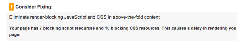Eliminate render-blocking JavaScript and CSS - по результатам проверки в PageSpeed Insights