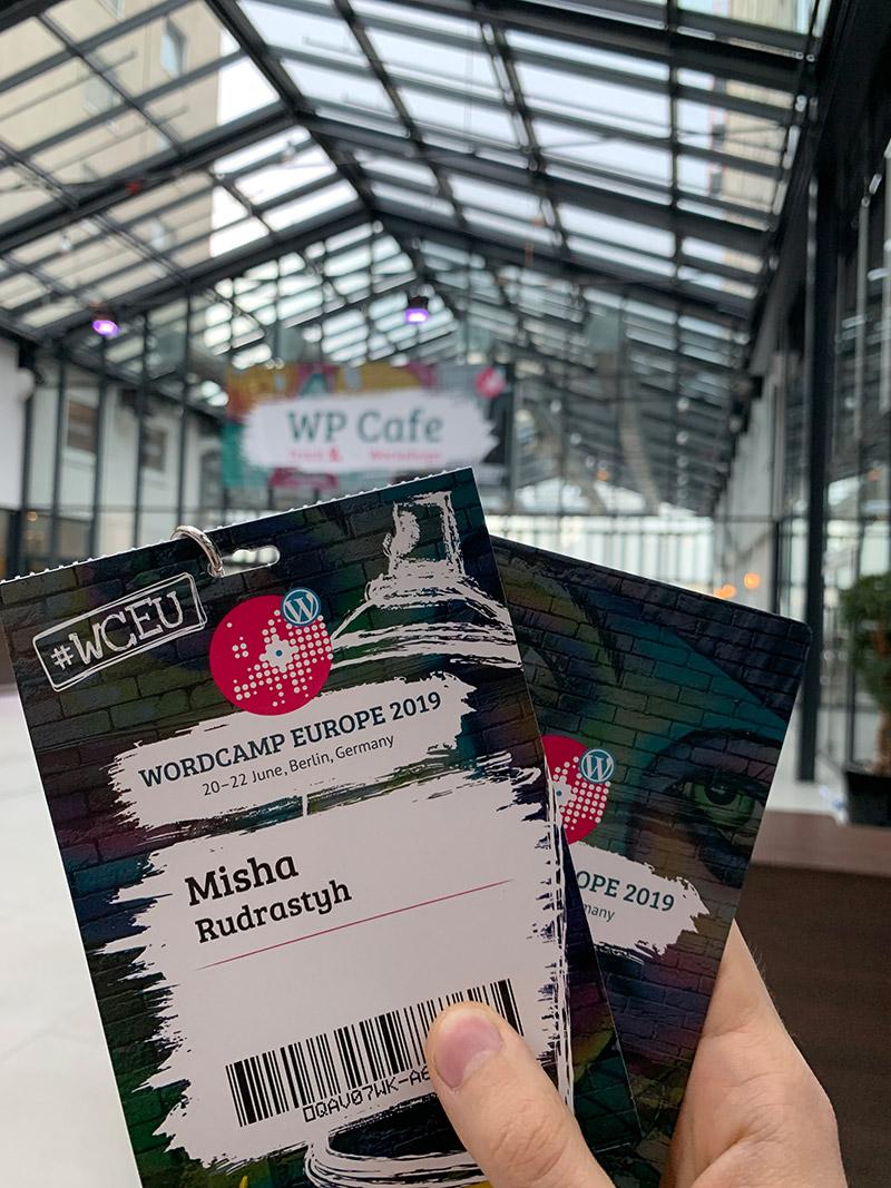 Бейдж на WordCamp Europe 2019