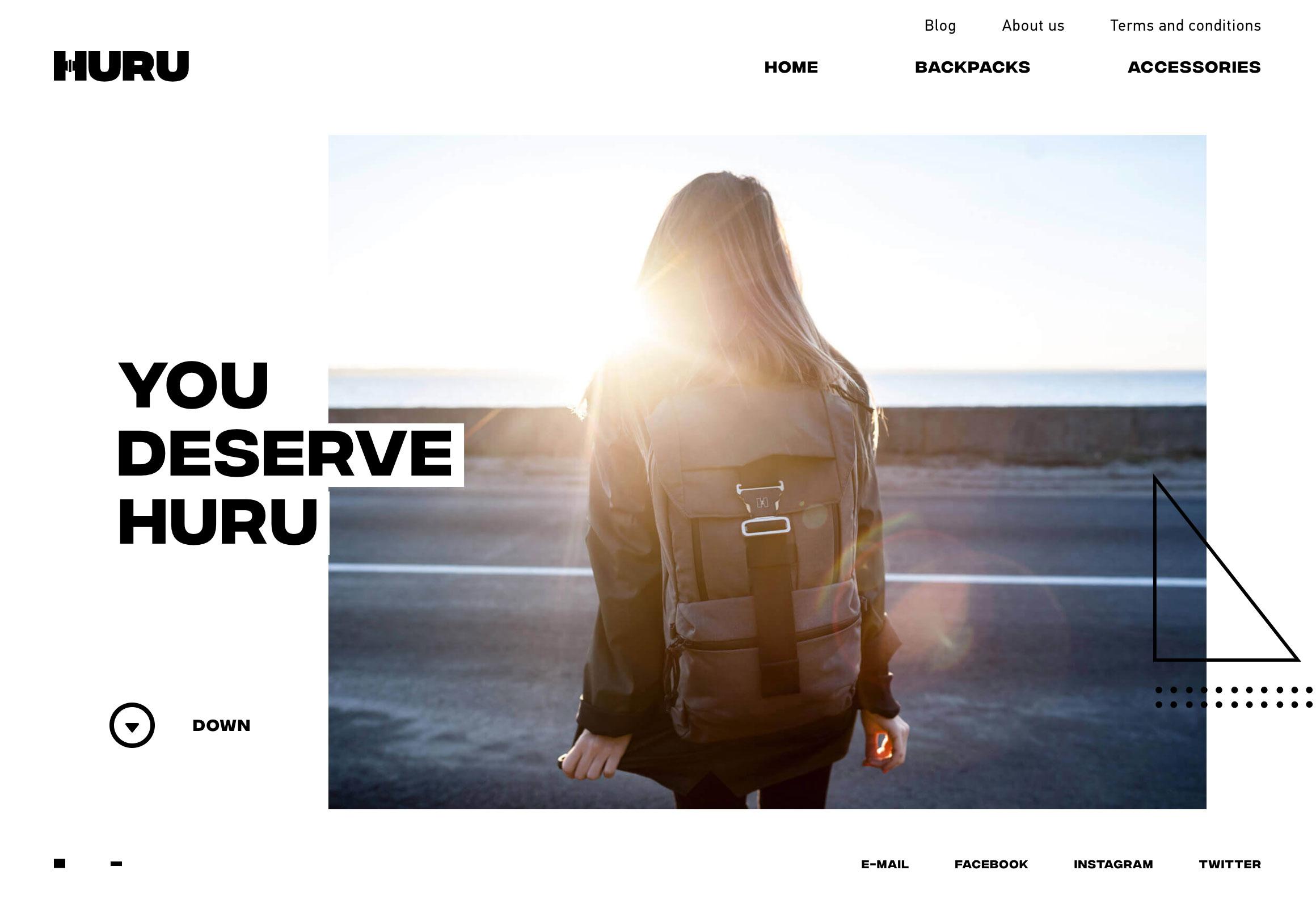 бренд рюкзаков Huru – сайт на WooCommerce