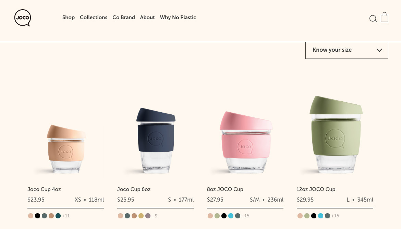 сайт интернет-магазина JocoCups разработан на WooCommerce