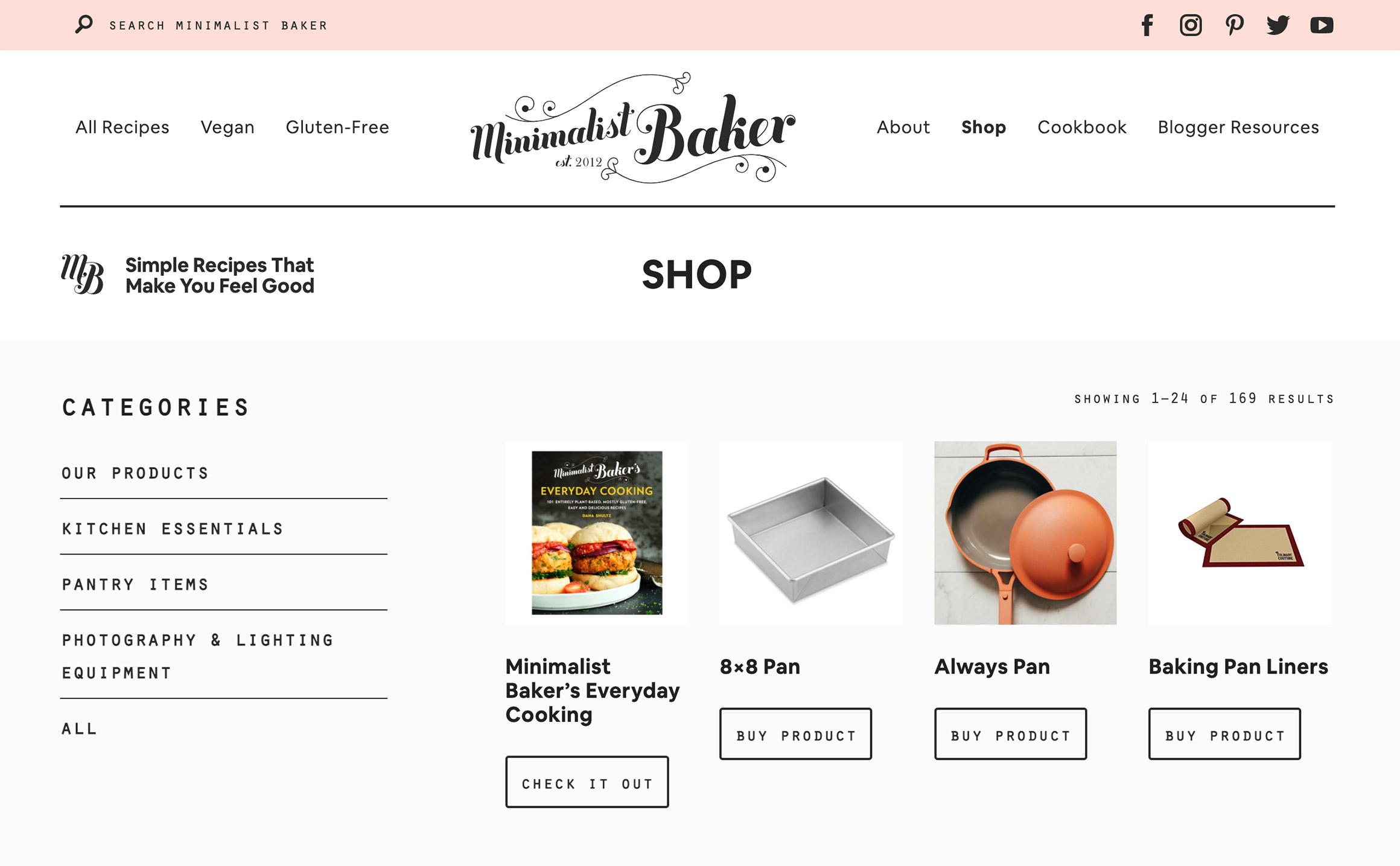 minimalistbaker сайт на WooCommerce