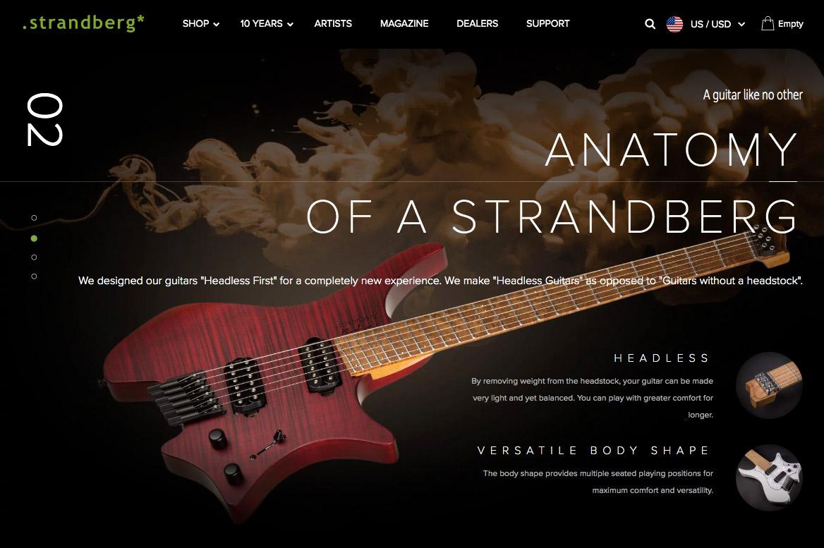 Strandber сайт созданный на плагине WooCommerce