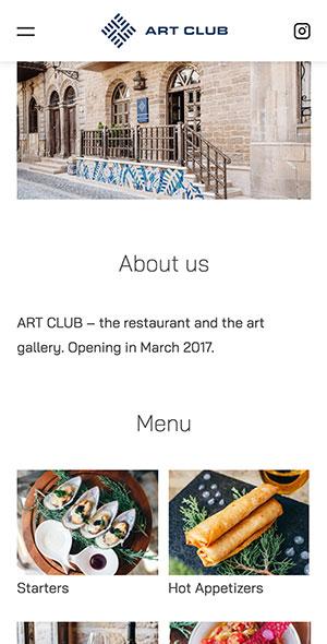 Мобильная версия главной страницы art group