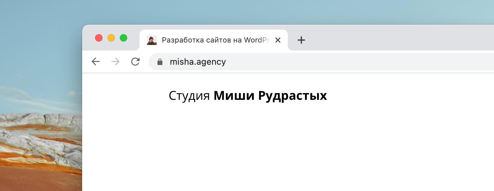 SSL-сертификат для домена misha.agency