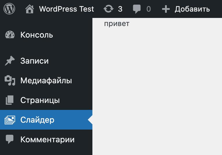 Добавление страницы в админку при помощи функции add_menu_page()